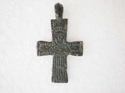 RARE ANCIENT Wearable Viking CROSS PENDANT Viking Kievan Rus 10-11 century AD