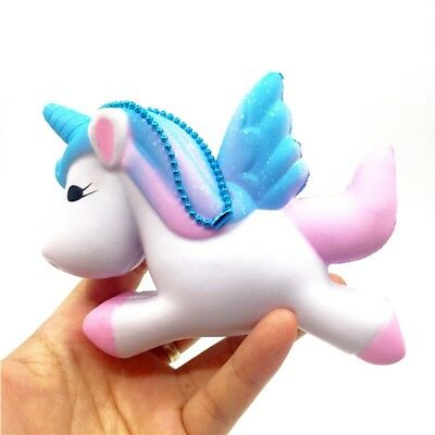 Unicorn Squishy Charms Soft Toy Slow Rising Cell Phone Key Chain Straps HE