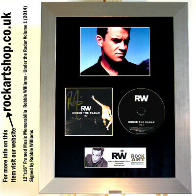 ROBBIE WILLIAMS Under the Radar SIGNED CD Autographed Framed *WORLD SHIP