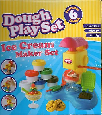 NEW / BOXED Dough Play Set Ice Cream Maker - 6 Doughs Ages 3+