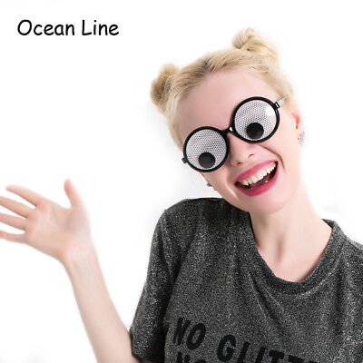 Funny Googly Eyes Goggles Shaking Eyes Party Glasses