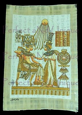 Original Egyptian Papyrus Light Emitted,Glitter,painted Tutankhamun& 2 Gift item