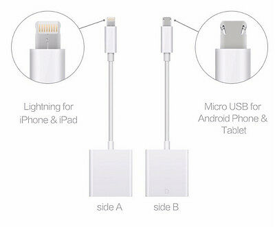 """2 in 1 SD Card Camera Reader Adapter for Iphone 8 8 plus IOS 11 Android 6.2"""""""