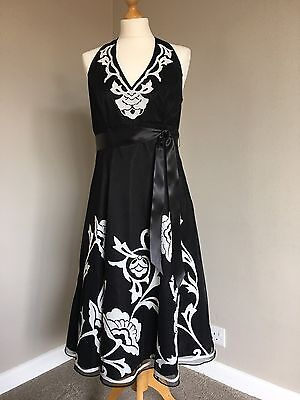 DEBUT Black & White Occasion/ Cocktail/ Ball Dress Size 12