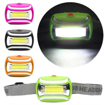 3W LED Light Waterproof 600LM COB Headlight Outdoor Cycling Head Lamp 3 Modes