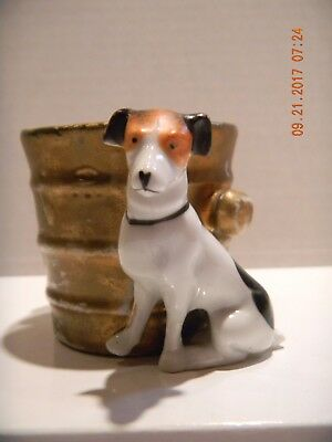 Vintage dog collectible toothpick holder jack russell terrier