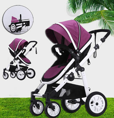 Kid Baby Fold Stroller Pram With Bassinet 3In1 Luxury Reversible Jogger Travel