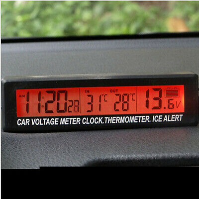 Auto Car LCD Digital Clock Thermometer Temperature Voltage Meter Monitor Best