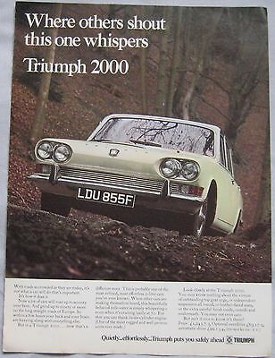 1966 Triumph 2000 Original advert No.1
