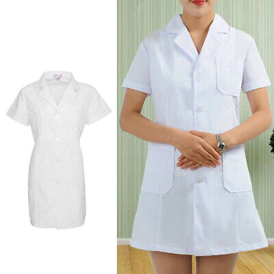 Unisex White Lab Coat Warehouse Doctor Coat Medical Food Hygiene Work Wear