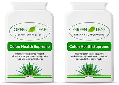 TWO Natural Herbal Colon Cleanser Body Cleanse Detox Diet Slimming Weight Loss