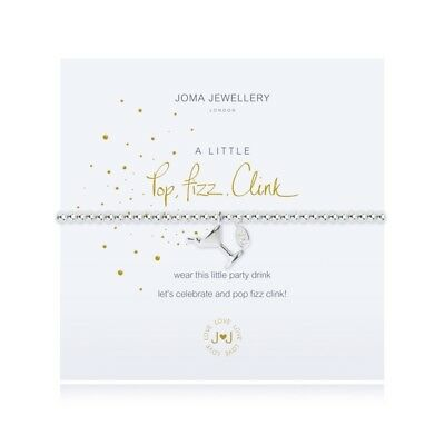 A Little Pop Fizz Clink Bracelet - Silver Plated Joma Jewellery Gift for Her