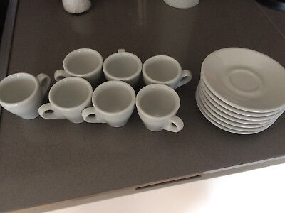 Nuova Point Italy white espresso cups and saucers