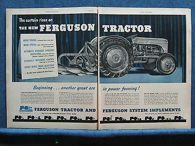 1948 Ferguson Tractor 2 Pg Ad - Large Image of Tractor & Plow  --Good Item