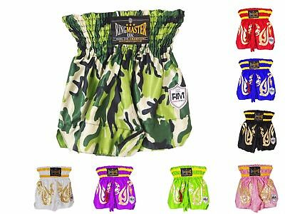 Kids Thai Kickboxing Shorts Trunks Martial Arts MMA RingMaster UK