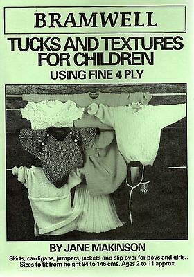 Machine knitting patterns – Tucks and Textures for Children