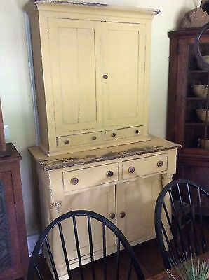 1800's kentucky Jackson Press stepback cupboard cabinet