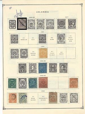 Colombia - Early Years Mint / Used Stamps (1865-1940) Some Rare Items