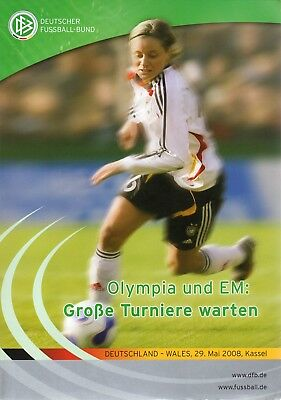 Deutschland Germany v Wales 29 May 2008 Womens Ladies Football Programme Kassel