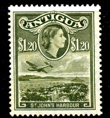 Stamps Antigua Queen Elizabeth II 1953 Definitive $1.20 Lightly Mounted Mint.