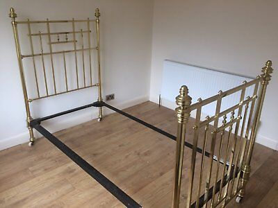 Victorian brass single bed