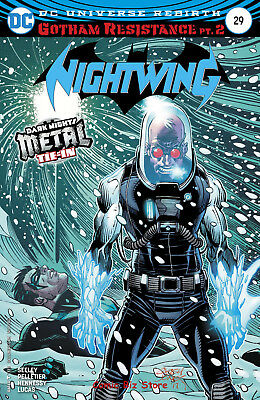 Nightwing #29 (2017) 1St Printing Variant Cover Dc Universe Rebirth Metal Tie-In