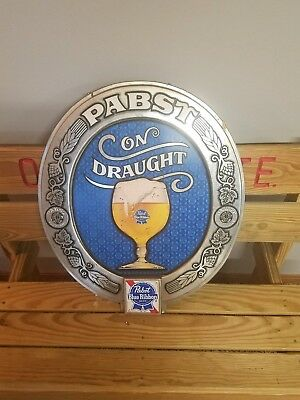 Vintage Pabst Blue Ribbon Bar  Advertising Sign, Mancave