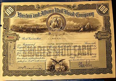 Vintage stock certificate Boston & Albany Rail Road Company 1955