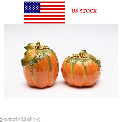 Orange Pumpkin Shape Design Salt and Pepper Shaker Collectible