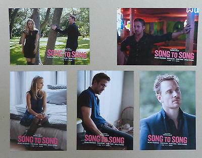 SONG TO SONG - Lobby Cards Set of 10 - Natalie Portman, Michael Fassbender