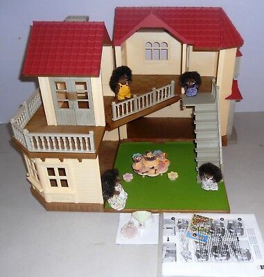 Sylvanian Families Beechwood Hall, Hedgehog Family & Nursery Party.  No Boxes
