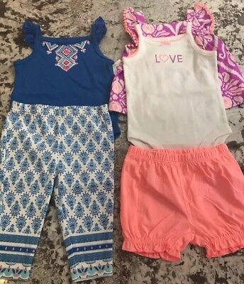 NWT- 5pc. BABY GIRL CARTERS CLOTHING LOT SIZE 3m