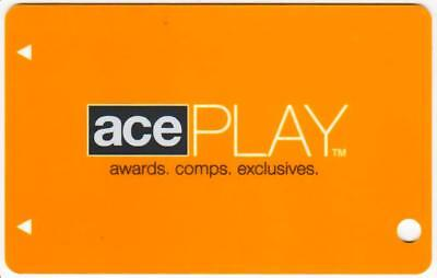 STRATOSPHERE casino*Ace Play 2nd Tier** ORANGE **BLANK~LV nv*Slot/Players card