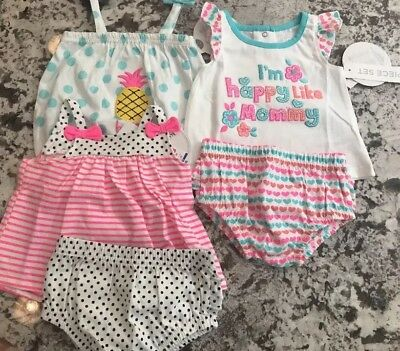 Nwt Baby Girl 5 Piece  Clothing Lot Size 0-3 Months