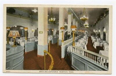 Britling Cafeteria Postcard Memphis Tennessee