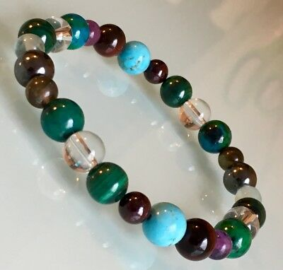 Arthritis, Rheumatism, Joint/back Pain Support Crystal Healing Gemstone Bracelet