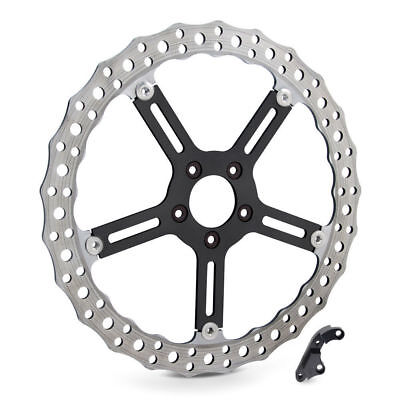 "Arlen Ness Right Side Rotor Wave 15"" Big Brake Kit 2000-2014 Harley Softail Dyna"