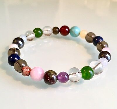Stress, Anxiety & Depression Support - Gemstone Crystal Healing Beaded Bracelet
