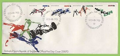 Singapore 1970 Festival of Sports set First Day Cover
