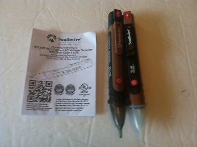 Lot of 2 Southwire 40130N Professional Non-Contact AC Voltage Detector