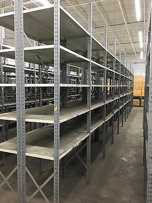 """50 Sections Lyon Clip Style Shelving Clean & Ready To Assemble 18""""d X 42""""w X 9't"""