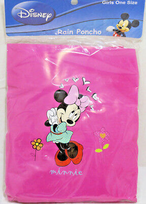 BRAND NEW Disney Minnie Mouse Girls Pink Rain Poncho Slicker - One SIZE Toddler