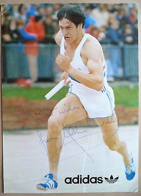ALLAN WELLS - 1980 OLYMPIC GAMES 100m GOLD MEDAL SIGNED PUBLICITY PHOTOGRAPH
