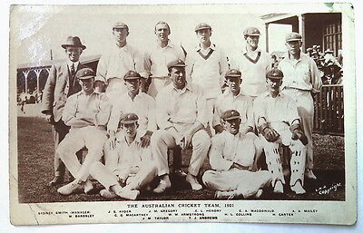 Australia 1921 Philip Hunt Photographic Cricket Postcar