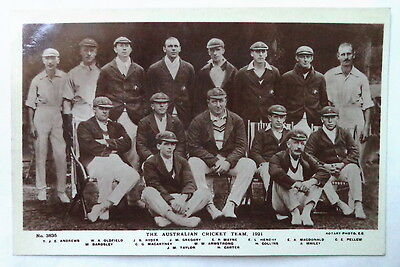 Australia 1921 Rotary Photographic Cricket Postcard