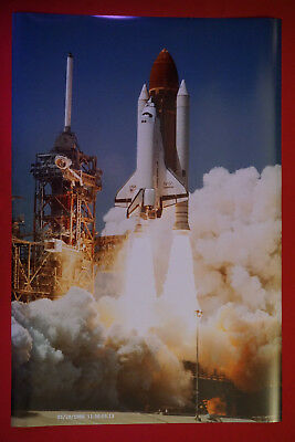 NASA Space Shuttle Challenger Exploration Missions Launch 1986 Poster 24X36 SHUT