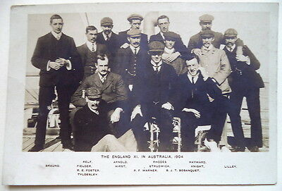 England (M.c.c) To Australia 1903-04 Cricket Postcard