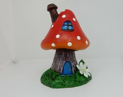 Red Smoking Toadstool House Incense Burner Cottage Incense Cone Burner