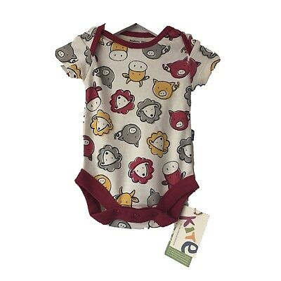 *Kite Clothing* Unisex Red Farmyard Bodysuit/ Vest (0-3 Months) BNWT RRP £10.00
