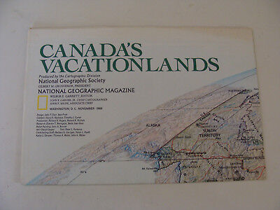 National Geographic Map 1985 Vacationlands of Canada